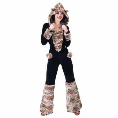 Zwarte kat/panter verkleed carnavalspak dames
