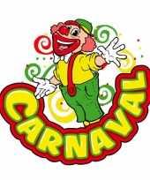 Carnaval wanddecoratie clown
