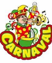 Carnaval wanddecoratie muzikant trompet