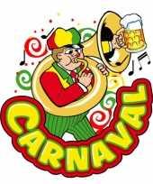 Carnaval wanddecoratie muzikant