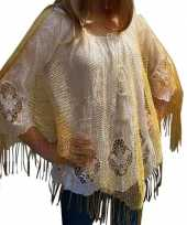 Gouden carnaval poncho omslagdoek stola dames