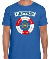Kapitein captain carnaval verkleed shirt blauw heren