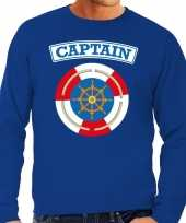 Kapitein captain carnaval verkleed trui blauw heren
