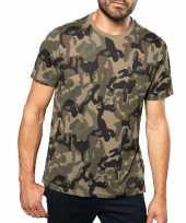 Soldaten leger carnavalspak camouflage shirt heren