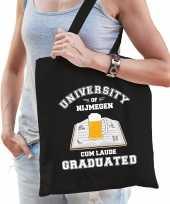 Studenten carnaval verkleed tas zwart university of nijmegen afgestudeerd dames