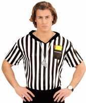 Voetbal scheidsrechter heren carnavalspak shirt opdruk