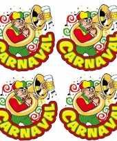 X carnaval raamsticker muzikant 10178042
