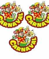 X carnaval raamsticker muzikant trompet 10178055