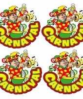 X carnaval raamsticker muzikant trompet 10178056