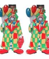 X stuks clown carnaval decoratie ballonnen 10260911