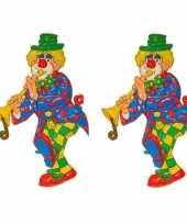 X stuks wanddecoratie carnaval clown 10262120