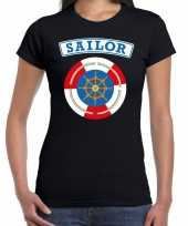 Zeeman sailor carnaval verkleed shirt zwart dames