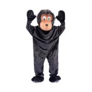 Zwarte kat poes verkleed carnavalspak heren